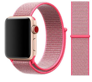Nylon Sport Loop for Apple Watch – Hot Pink