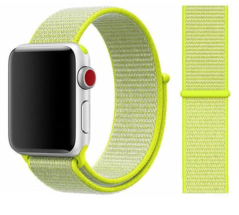 Nylon Sport Loop for Apple Watch – Light Yellow