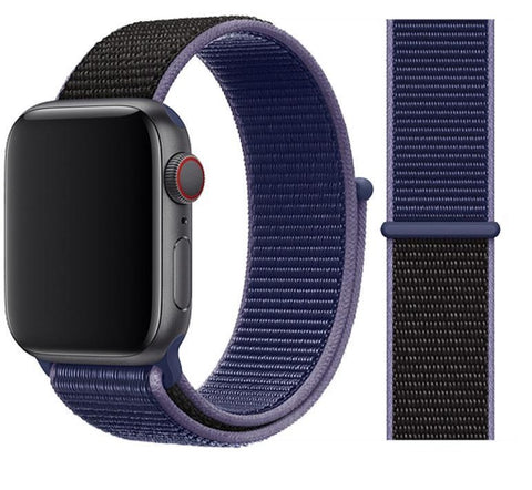 Nylon Sport Loop for Apple Watch – Midnight Blue
