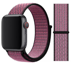 Nylon Sport Loop for Apple Watch – Pink Blast