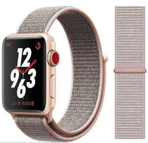 Nylon Sport Loop for Apple Watch – Pink Sand