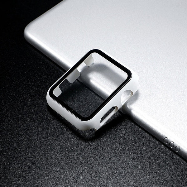 Glass Apple Watch Screen Protector - White