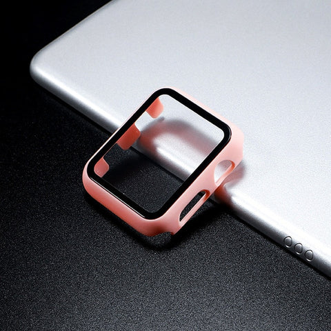 Glass Apple Watch Screen Protector - Pink