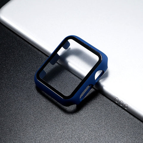 Glass Apple Watch Screen Protector - Midnight Blue