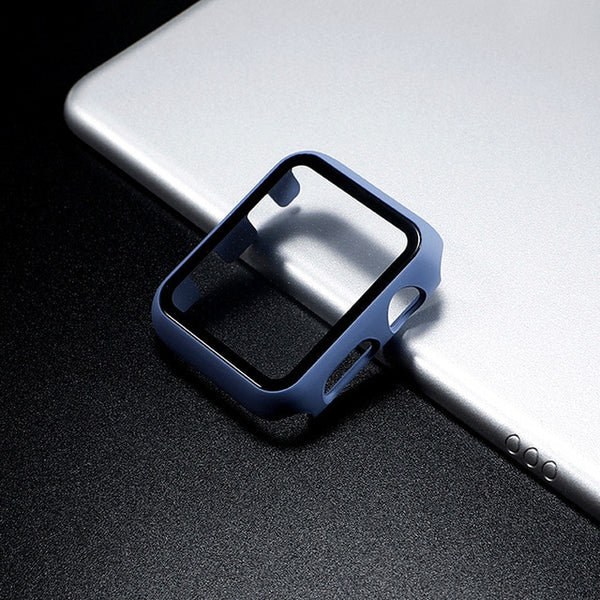 Glass Apple Watch Screen Protector - Sea Blue