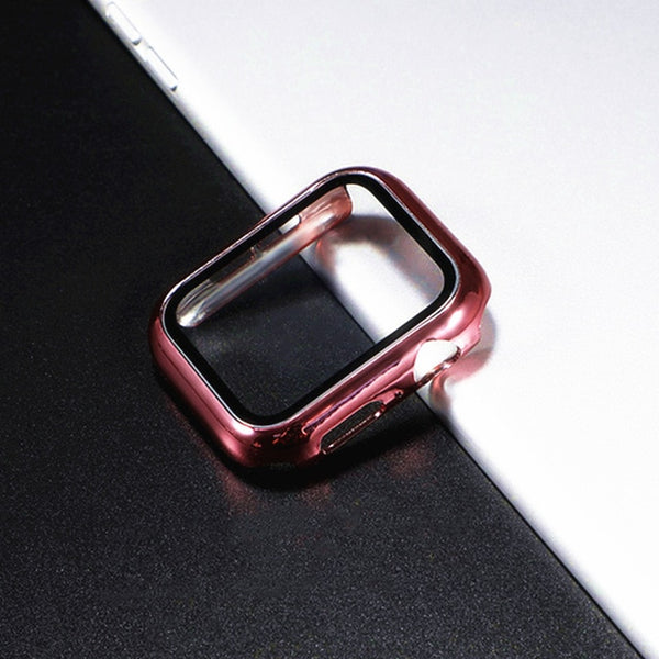 Glass Apple Watch Screen Protector - Pink Gold