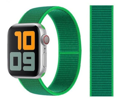 Nylon Sport Loop for Apple Watch – Dark Green