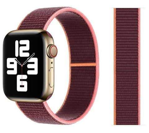Nylon Sport Loop for Apple Watch – Plum