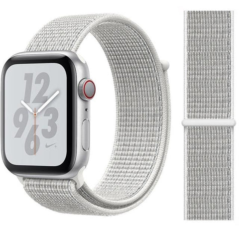 Nylon Sport Loop for Apple Watch – Summit White