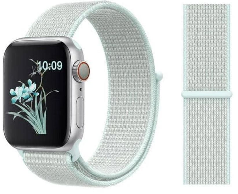 Nylon Sport Loop for Apple Watch – Teal Tint