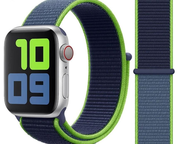 Nylon Sport Loop for Apple Watch – Neon Lime