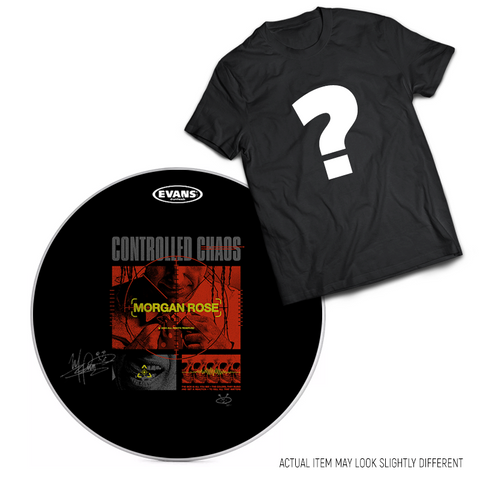 CROSSHAIRS: SIGNED DRUM HEAD + MYSTERY T-SHIRT [50 LIMITED]