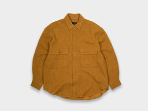EVAN KINORI BIG SHIRT [WOOL GAUZE] MUSTARD