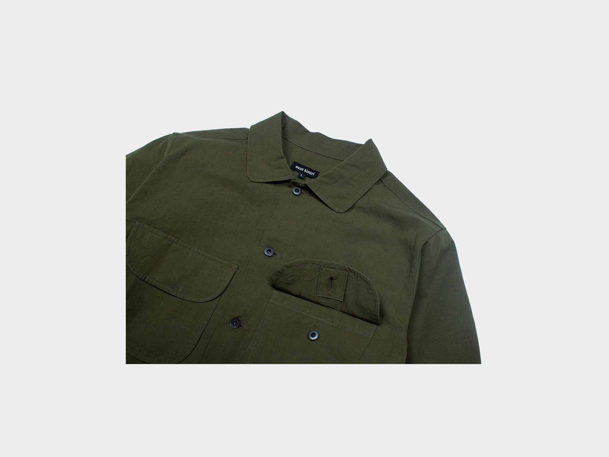 EVAN KINORI FIELD SHIRT [TYPEWRITER]