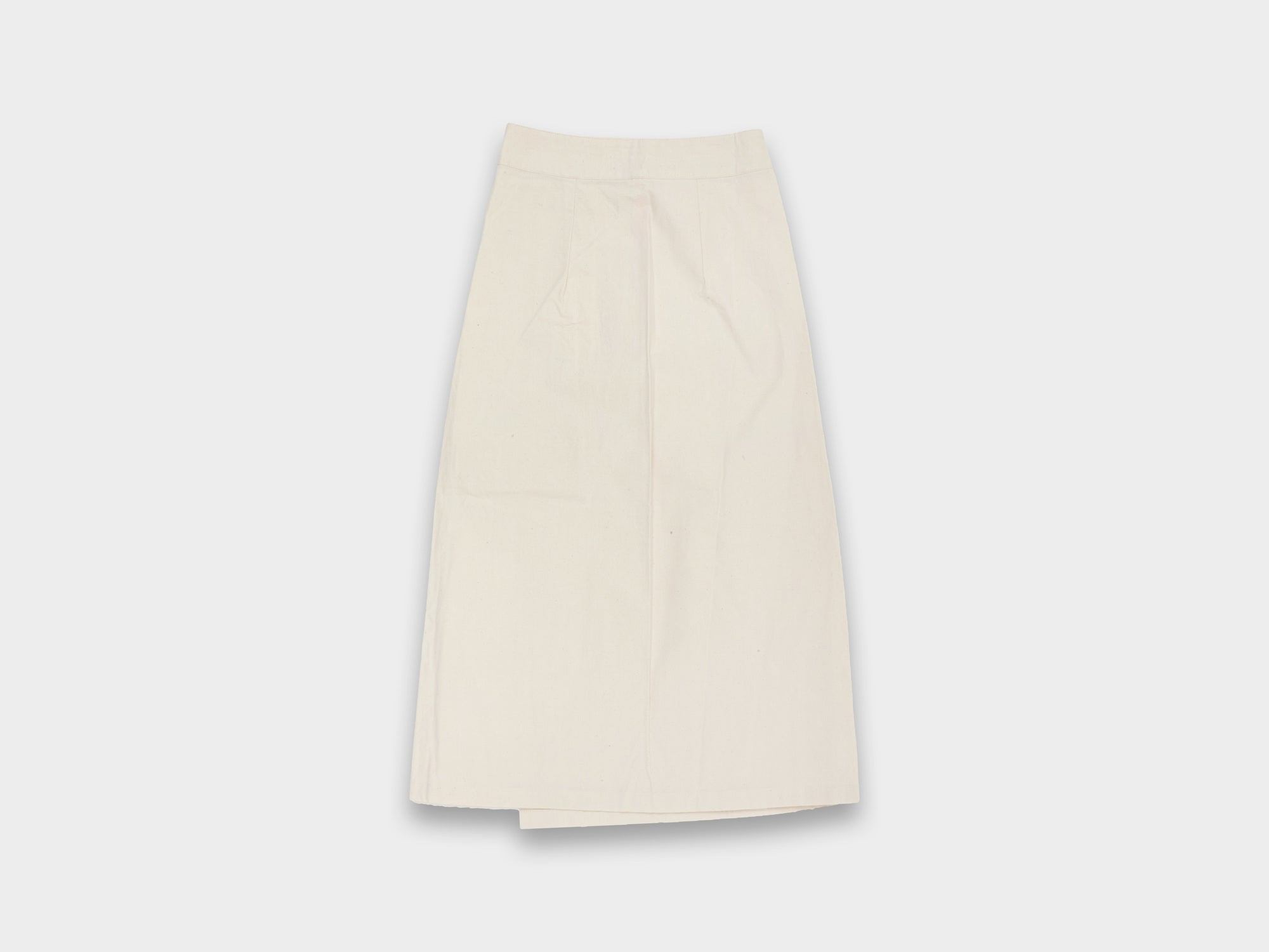 W-R5P6 [SKIRT] UNBLEACHED