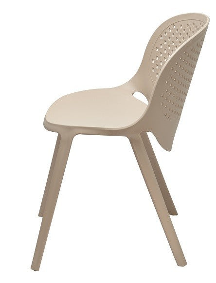 Silla JAVA, apilable, polipropileno blanco