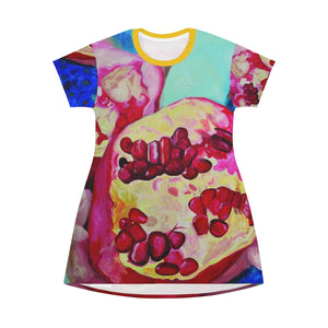 "Open image in slideshow, All Over Print T-Shirt Dress: ""Everyday Jewels"""