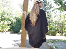 Load image into Gallery viewer, WINDCATCHER KIMONO | Black or Ivory Crepe Chiffon | One size