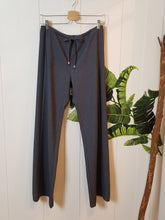 Load image into Gallery viewer, Side Panel Drawstring Pants in 'Blue' Cotton Denim