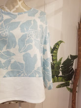 Load image into Gallery viewer, Bandit Top in Blue Rose Linen | One size