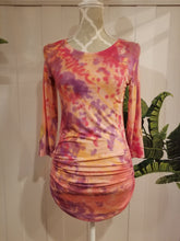 Load image into Gallery viewer, A Loving Reminder Top in Peach/Purple Organic Bamboo Tie Dye | Size M