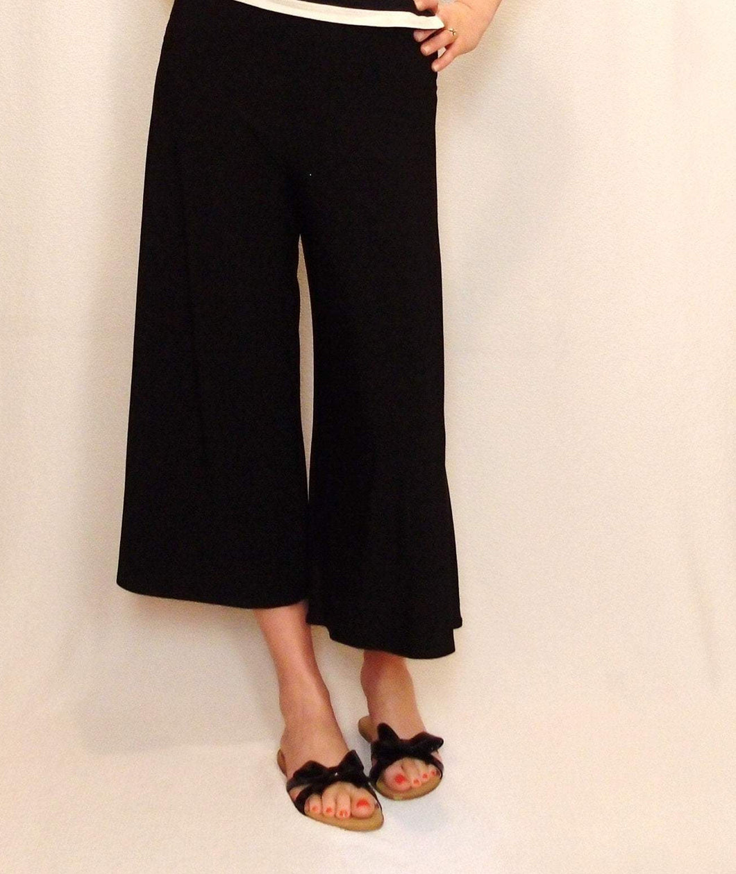 Gaucho Pants in Organic Bamboo | Sizes XXS-XXL
