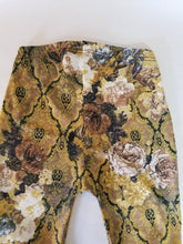 Load image into Gallery viewer, Ruched Bootcut Leggings in 'Golden Rose' Floral knit | Sizes S-L
