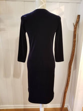 Load image into Gallery viewer, CHLOE SHEATH DRESS | Dark Midnight Blue, Black or Blush Stretch Velvet | Size 2-12