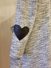 Load image into Gallery viewer, Sunday Love Cardigan in Fleck Tweed Knit (Black Hearts) | Sizes XXS-XXL