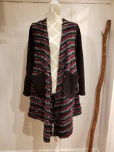 Load image into Gallery viewer, SUNDAY LOVE CARDIGAN | 'Purple Aura' Slub Knit + Mauve Leather Elbow Patches | Size S/6
