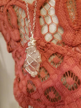 "Load image into Gallery viewer, QUARTZ GALAXY NECKLACE | Clear Quartz Crystal Pendant on a fine 32"" silver cable chain"