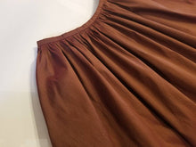 Load image into Gallery viewer, Gathered Waist Ankle Skirt in 'Maroon' Taffeta