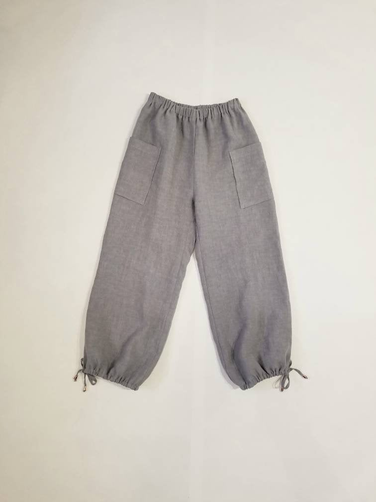Freedom Flood Pants in Dove Grey Linen | Sizes 2-14