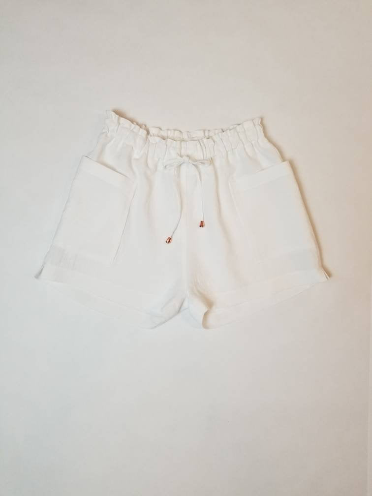 Freedom Shorts in White Linen | Sizes 2-14