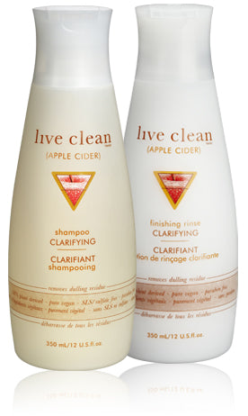 Live Clean apple cider vinegar - clarifying finishing rinse 350ml