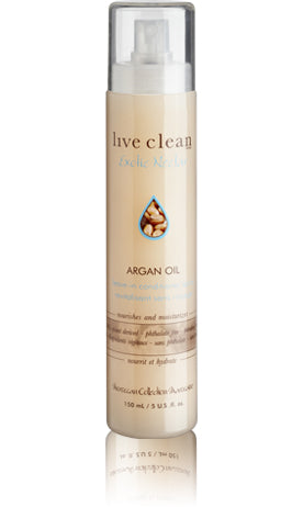 Live Clean Argan Oil Leave in Conditioning Spray 150ml
