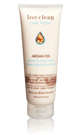 Live Clean exotic nectar - argan oil smooth & shine cream 120ml