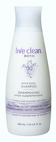 Live Clean Biotin Extra Body Shampoo 350ml