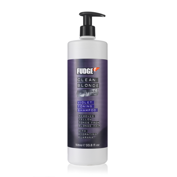 Fudge Clean Blonde Violet Toning Shampoo or Conditioner 1Litre