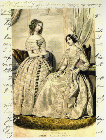1860s Paris Fashion Print Note Card