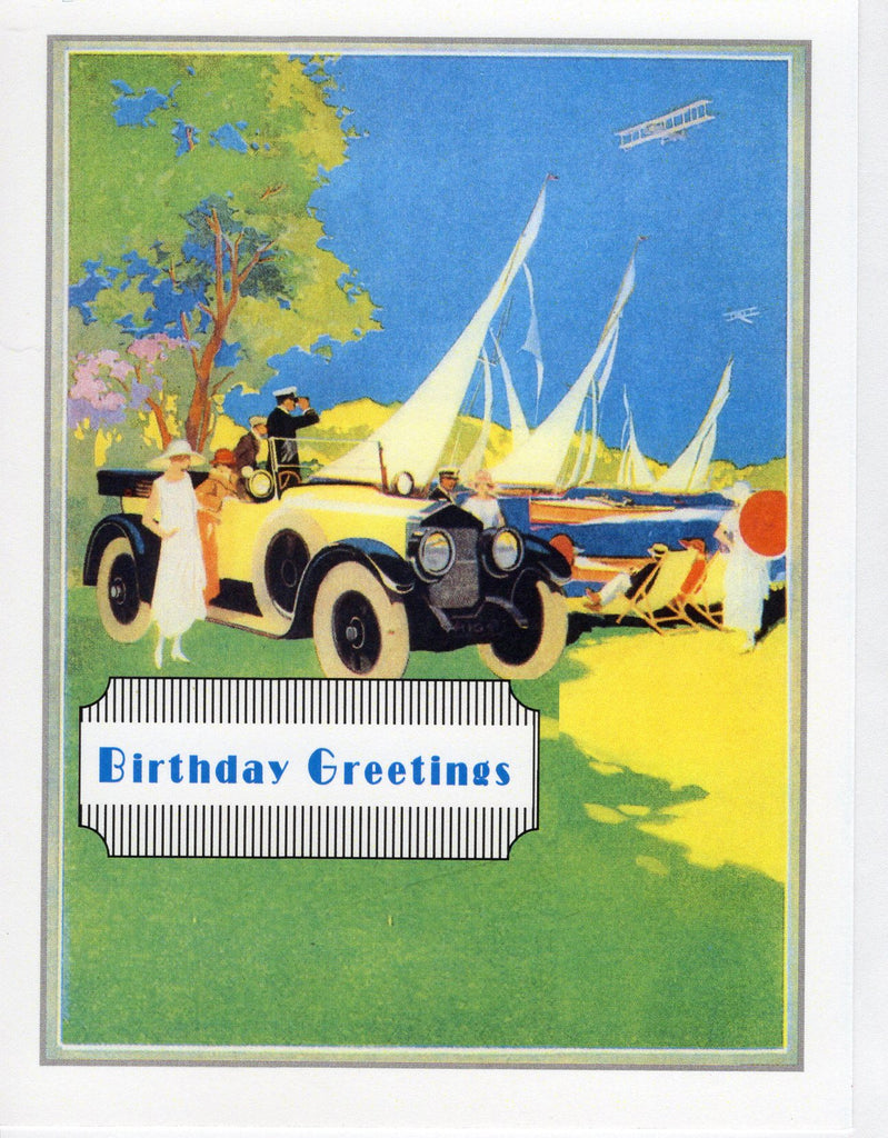 Birthday Greetings ~ 1920s Sporting Scene