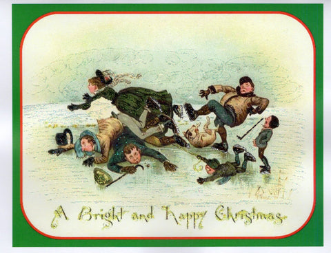 A Bright and Happy Christmas ~ Ice Skaters
