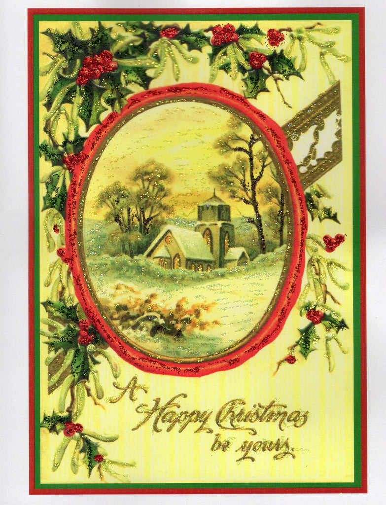 A Happy Christmas Be Yours...Country Scene