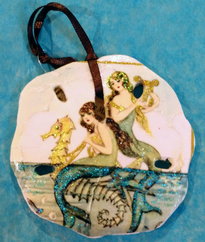 "Above the Sea Mermaid ""Sand dollar"" Ornament"