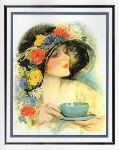 Afternoon Tea ~ 1925 Glitter Card