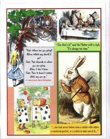 Alice in Wonderland Note Card