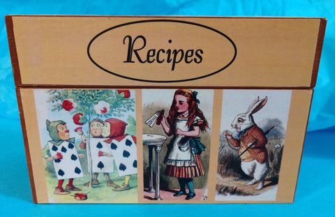 Alice in Wonderland Recipe Box