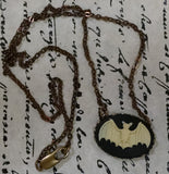 Victorian Bat Cameo Necklace