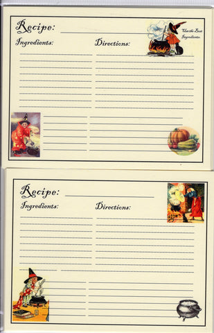 Recipe Cards Package ~ Bewitched