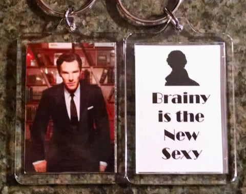 Brainy Is the New Sexy Keychain